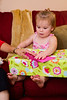 Mia opening a present - 8-30-2013
